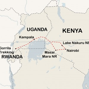 14 Day Gorillas & Safari Overland