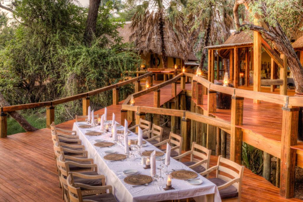 Dining at Camp Okavango