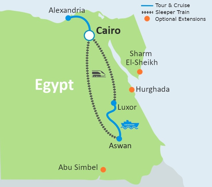 8 Day Best of Egypt by Train