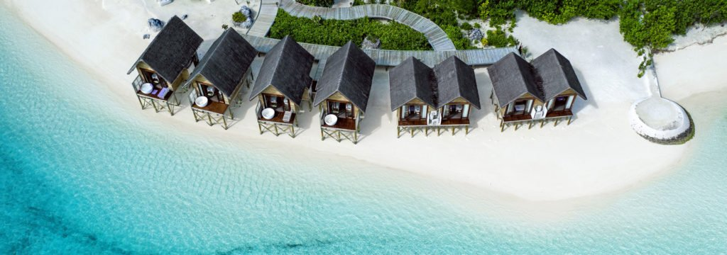 Overwater villas at OZEN by Atmosphere at Maadhoo