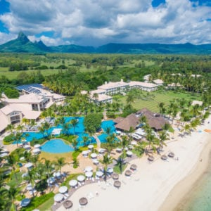 Aerial View of the White Sandy Beach at Sugar Beach