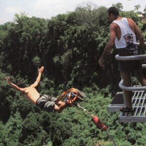 Bungee jumping at Vic Falls