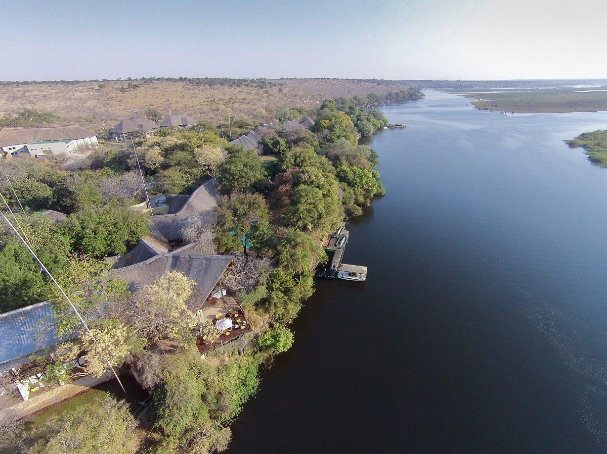 Aireal View of Chobe Safari Lodge