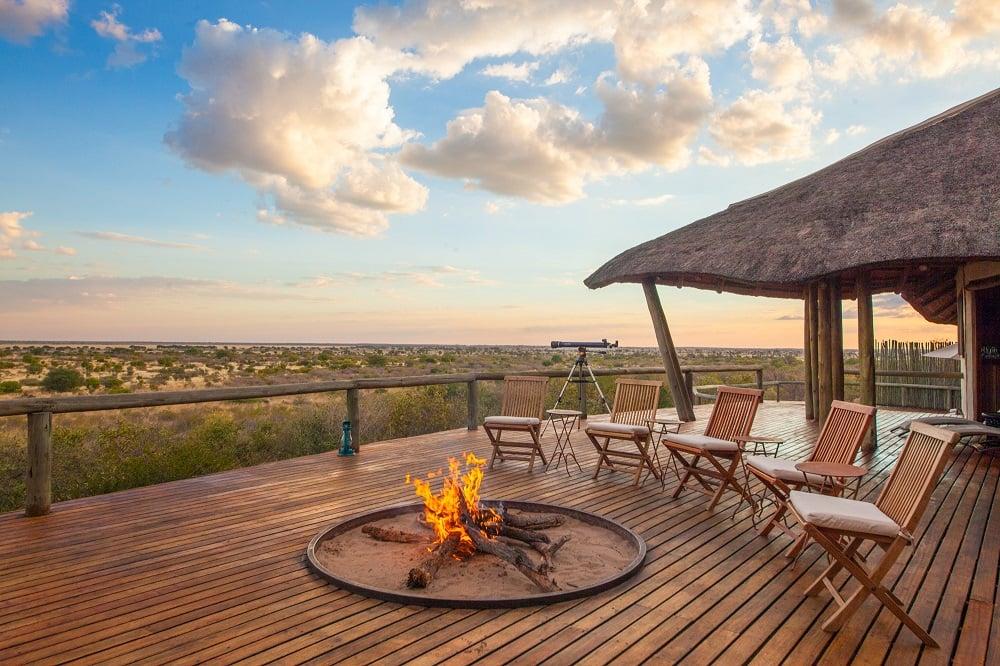 Wooden Deck overlooking the Kalahari Desert